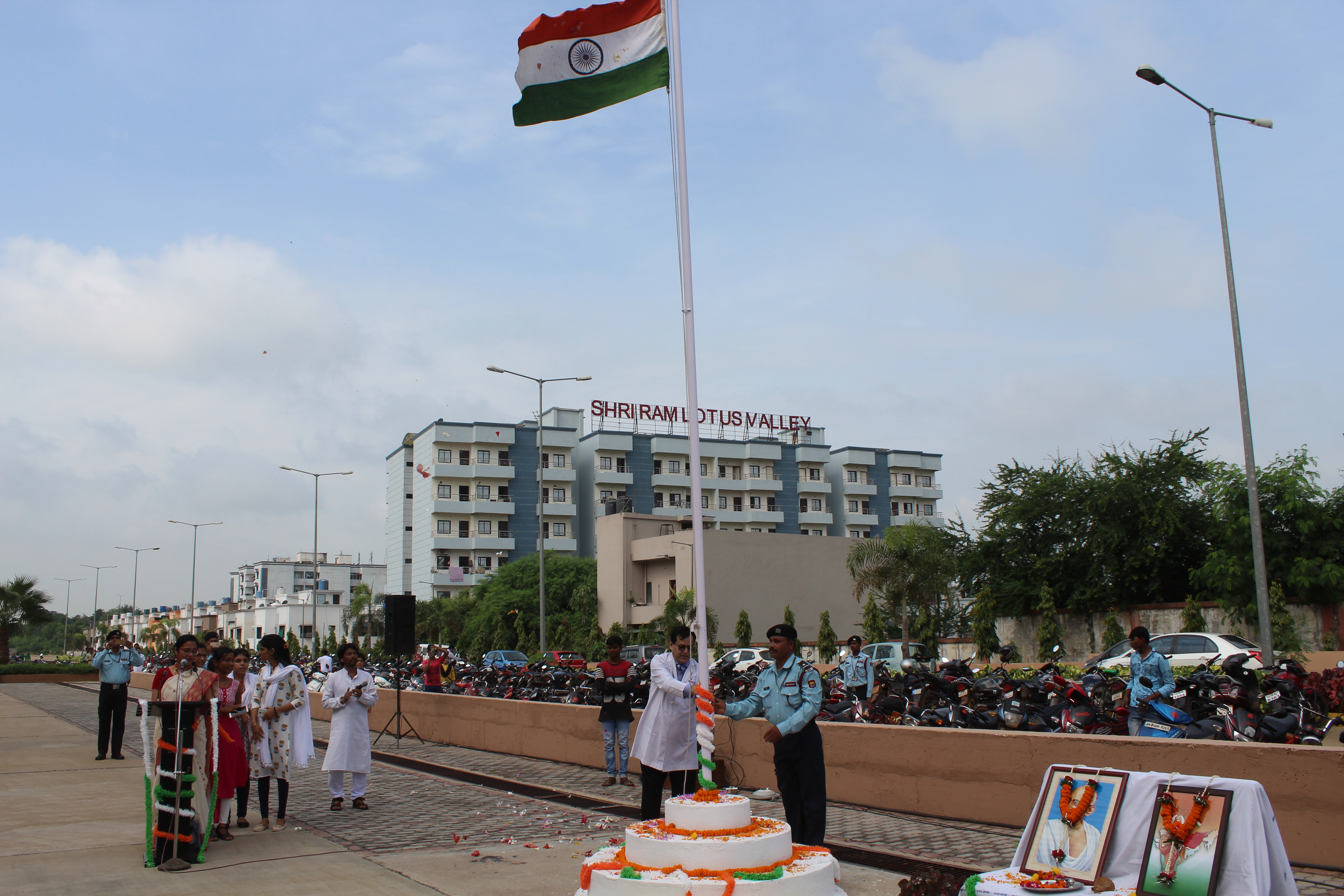 71st Independence day celebrated at AIIMS, Raipur.