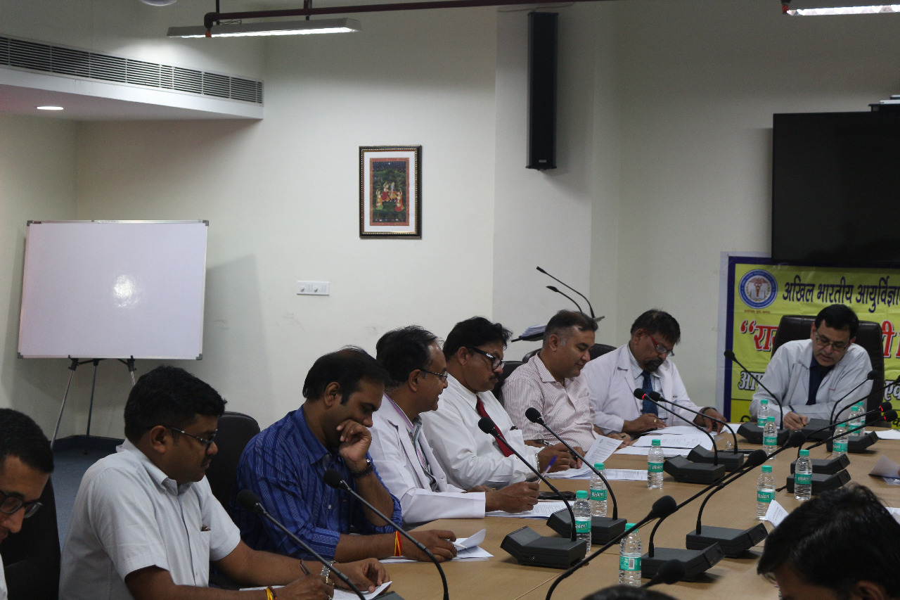 A view of the meeting of the official Language Committee on 30th May 2018 in AIIMS Raipur.