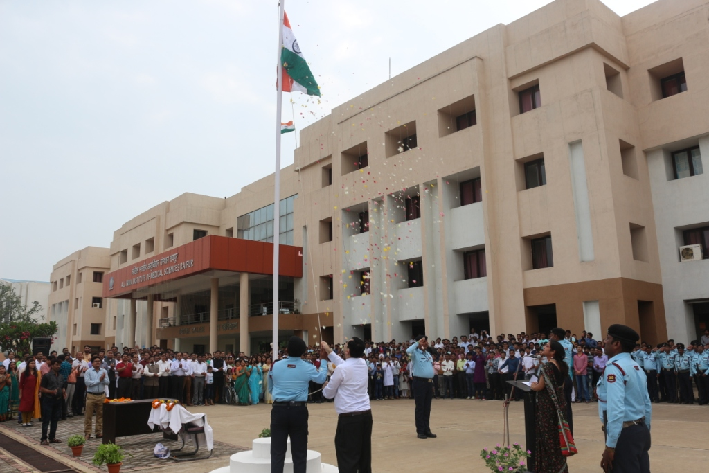 72nd Independence Day Celebration at AIIMS,Raipur- 2018.
